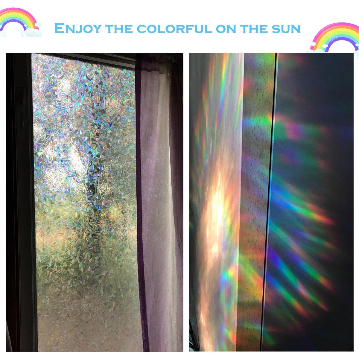 Amazon Bloss Decorative Window Films Rainbow Effect Privacy