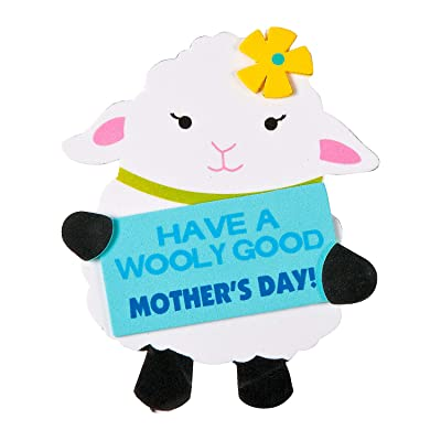 Fun Express Spring Lamb Magnet Craft Kit - Makes 12, Have A Wooly Good Mother's Day: Toys & Games