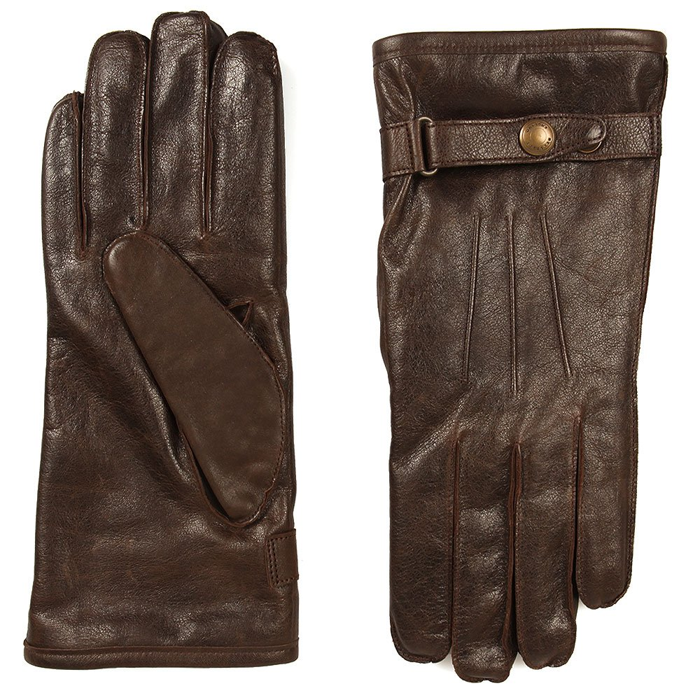 1a2fd26e25e51 Belstaff - Heyford Leather Gloves, Black/Brown: Amazon.co.uk: Clothing