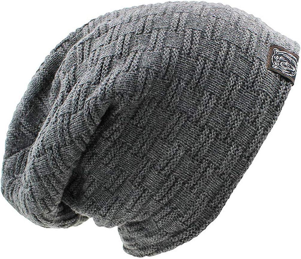 OTFTHPCW Skullies Bonnet Winter Hats for Women Men Beanie Mens Faux Fur Warm Baggy Knitted Knit Winter Hat Caps