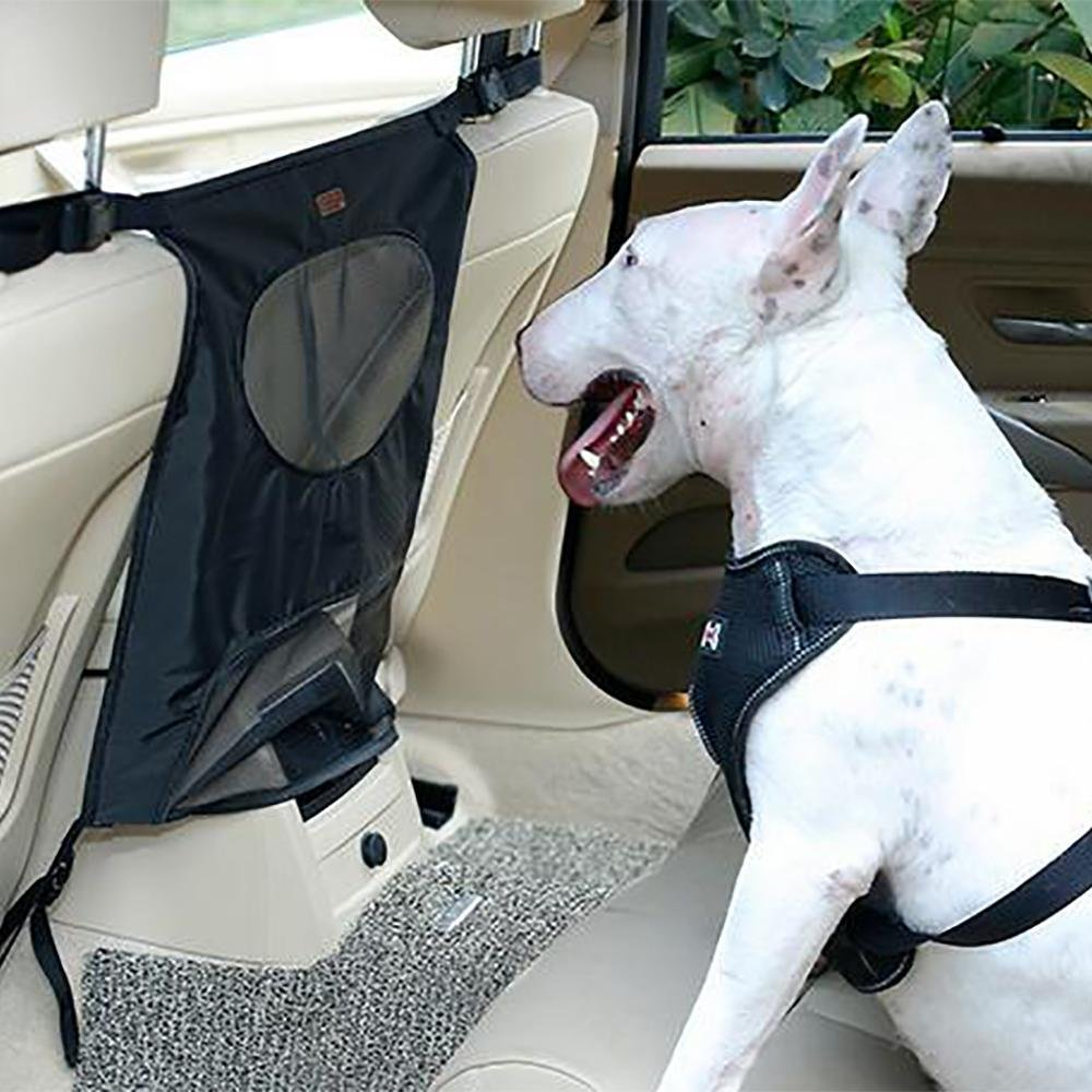 Black LPY-Dogs Backseat Barrier Mesh Obstacle Dog Car Fence Mesh, to Keep Your Pets and Drivers Safety, One Size Fit Most & Easy to Install for Car,SUV,Truck,