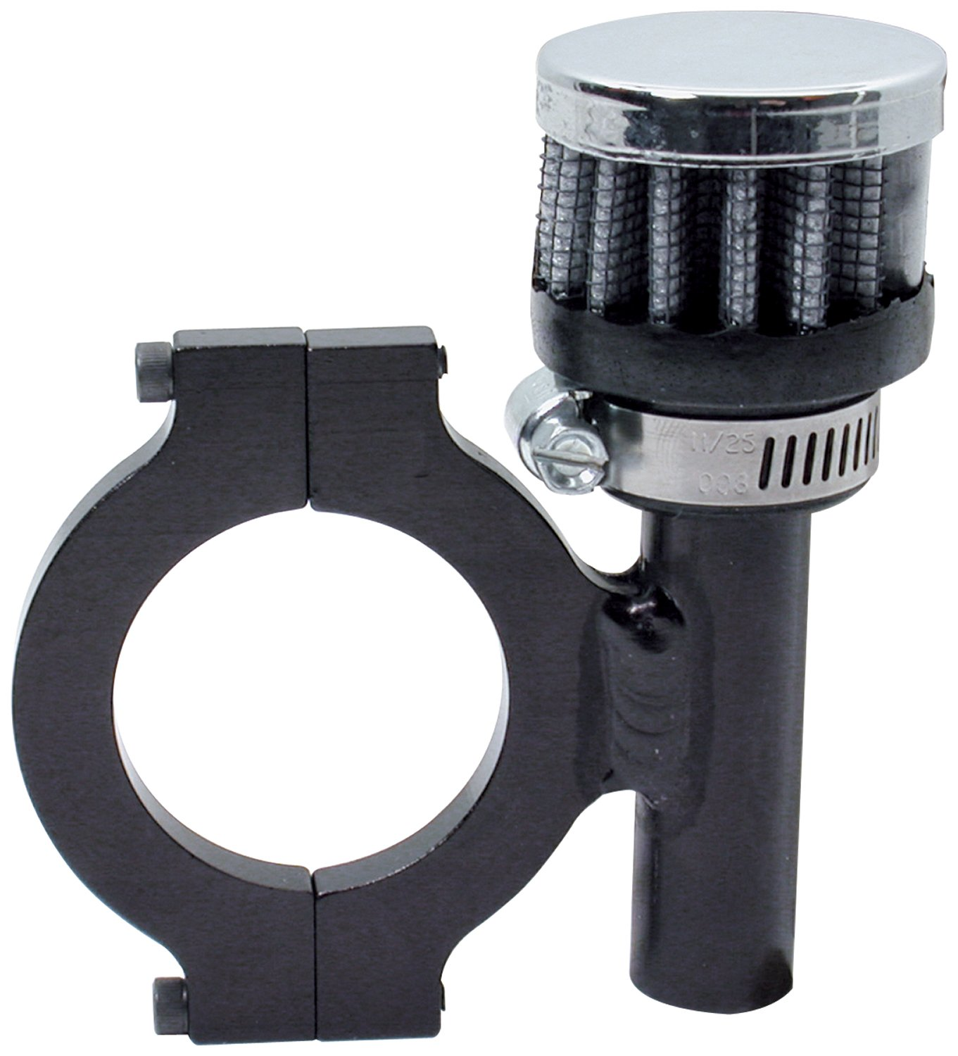 Allstar ALL36107 1'' High x 1-3/8'' Diameter Clamp-On Breather for 1.75'' Round Tubing Mount