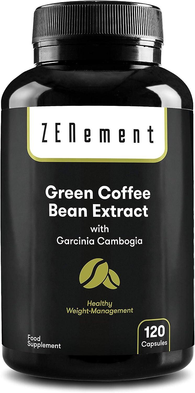 Extracto de Café Verde Natural con Garcinia Cambogia pura, 120 cápsulas | Para perder peso, quemar grasas y disminuir el apetito | No GMO, 100% ...