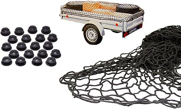 2x3m rei/ßfestes dehnbares Auto Anh/änger-Netz Transportnetz Cargo Net ONEVER Anh/änger-Netz