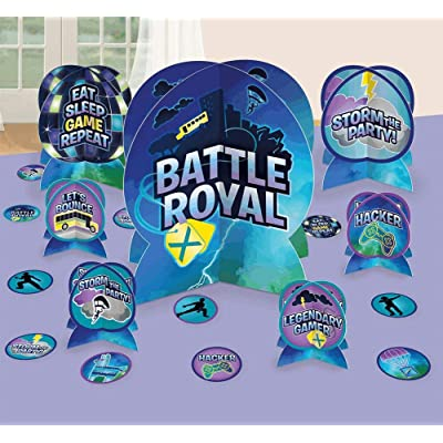 """Amscan""""Battle Royal"""" Blue Party Table Decorating Kit, 27 Pc.: Toys & Games"""