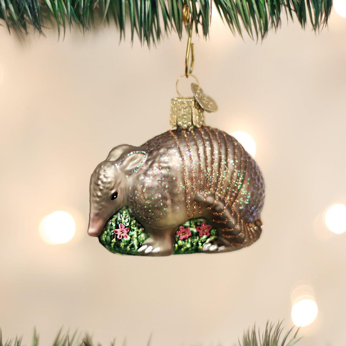 Amazon.com: Old World Christmas Armadillo Glass Blown Ornament: Home ...