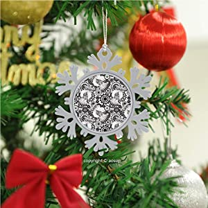 SUPNON Black Gears Steampunk/Christmas Ornament 2020 Xmas Tree Topper Hanging Decoration Merry Christmas Elk Snowflake Gifts for Home Festival Fantastic Romantic Indoor Decor №W0312017