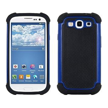 kwmobile Funda compatible con Samsung Galaxy S3 / S3 Neo - Carcasa protectora de [TPU] - Cover trasero en [azul / negro]