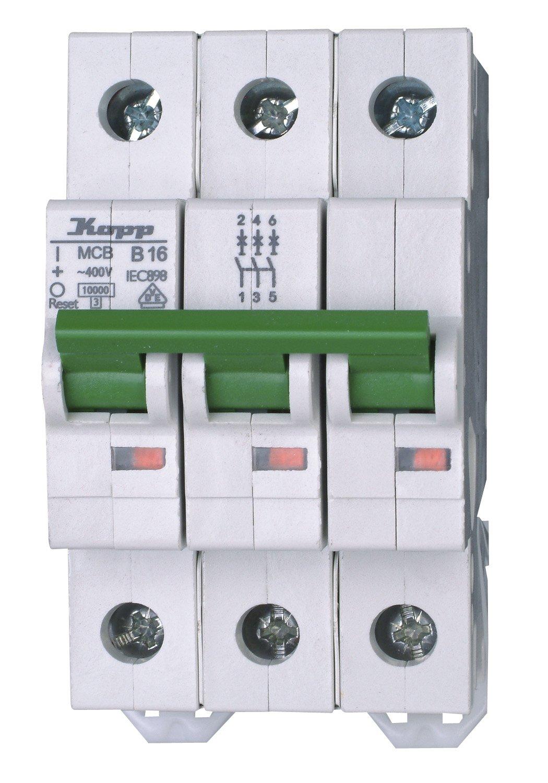 Kopp Green Electric Circuit Breaker (MCB) 7216300053Pin 16A