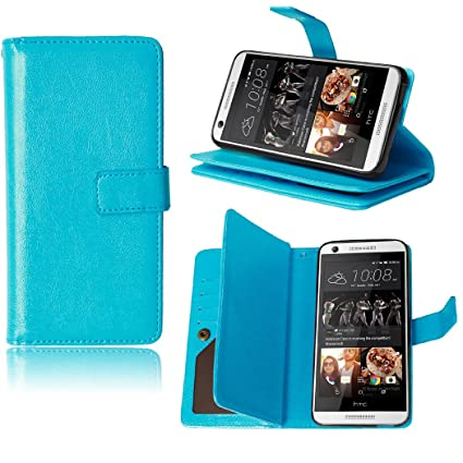 save off 777f7 daf84 HTC Desire 626s Wallet Case, HTC Desire 626 Leather Case With [9 Card  Slots] [Free Charger Cable] [ Kickstand] TOMYOU Flip Premium Soft TPU  Rubber ...