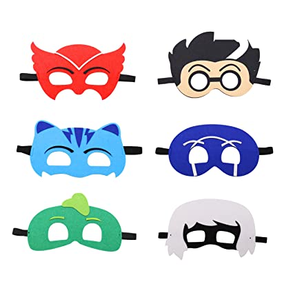 PJ Felt Masks 12 pcs Party Supplies Cosplay Character Mask Party Favors for Kids Boys or