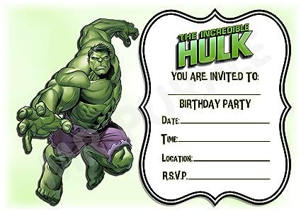 Superhéroe De Hulk Diseño De Rayas De Fiesta De Cumpleaños