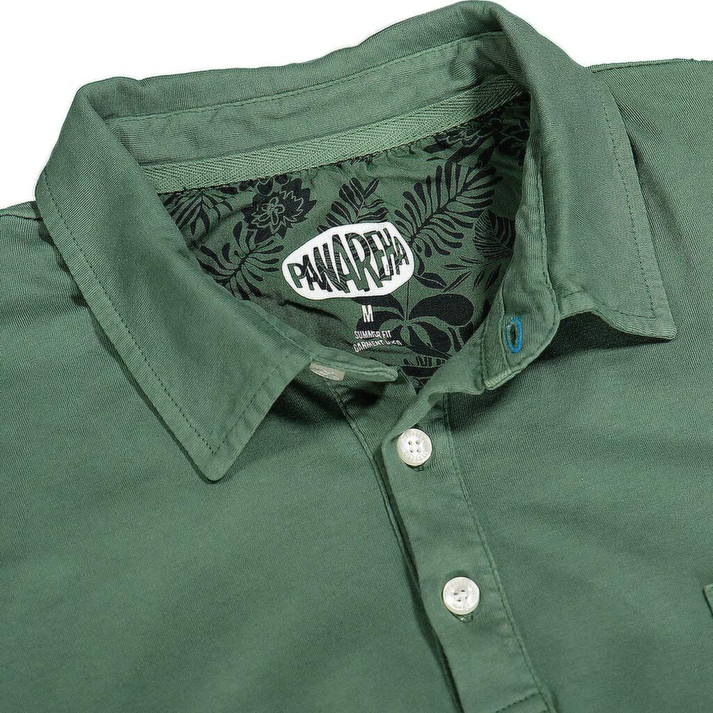 Panareha Mens Daiquiri Pocket Polo Green