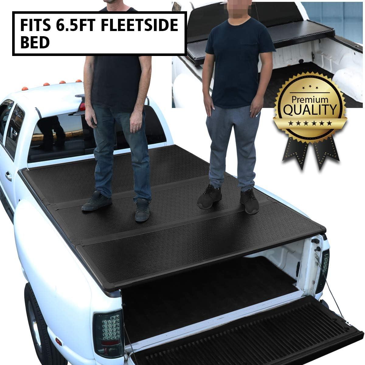 Amazon Com Dna Motoring Ttc Hard 028 Pickup Truck Bed Top Hard Solid Tri Fold Tonneau Cover Automotive