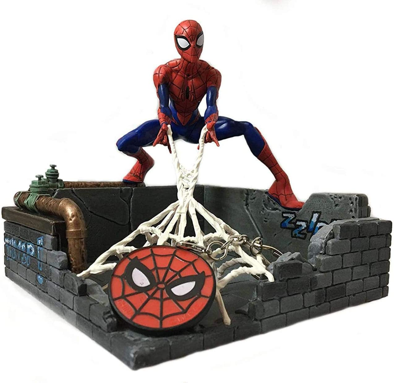 Marvel Spider-Man Finders Keypers Statue | Official Spider-Man Key Holder Figure | Holds Your Keys, Wallet, Watch & More | Measures 5.5 Inches