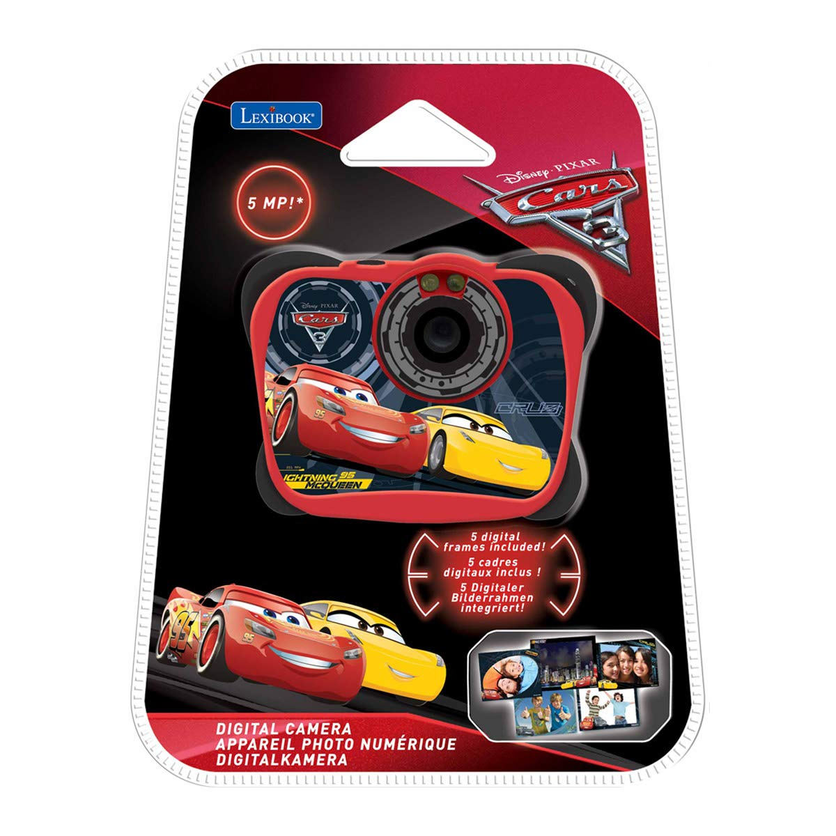 27944ee7b19 Disney DJ134DC Lexibook Pixar Cars 3 Lightning McQueen 5MP Digital Camera:  Amazon.co.uk: Toys & Games