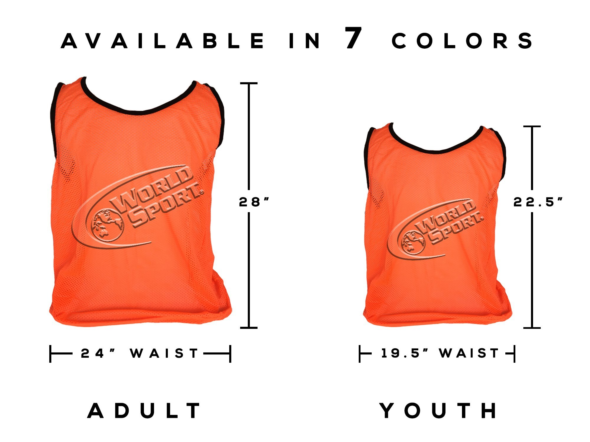 12 Pack Adult ORANGE Scrimmage Vests with Carry Bag by World Sport by World Sport (Image #4)