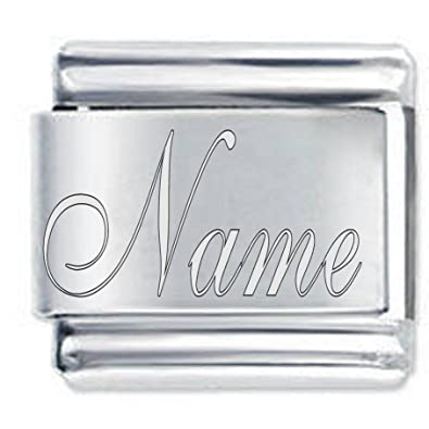 e86f69f232909 Custom Name Charm traditionally Engraved - fits Nomination Classic Bracelets