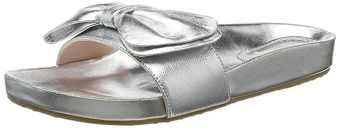 Dune Damen Fenela Zehentrenner, Silber (Silver Silver), 39 EU