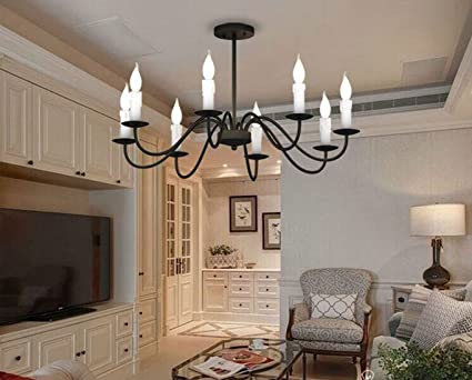 Ruanpu Industrielle Vintage Deckenleuchte Deckenlampe Kerze Lampe E14  Sockel Für Wohnzimmer Schlafzimmer Esszimmer Restaurant Café Hotel