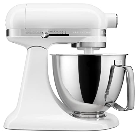 KitchenAid KSM3316XWH Artisan Mini Stand Mixers, 3.5 quart, White