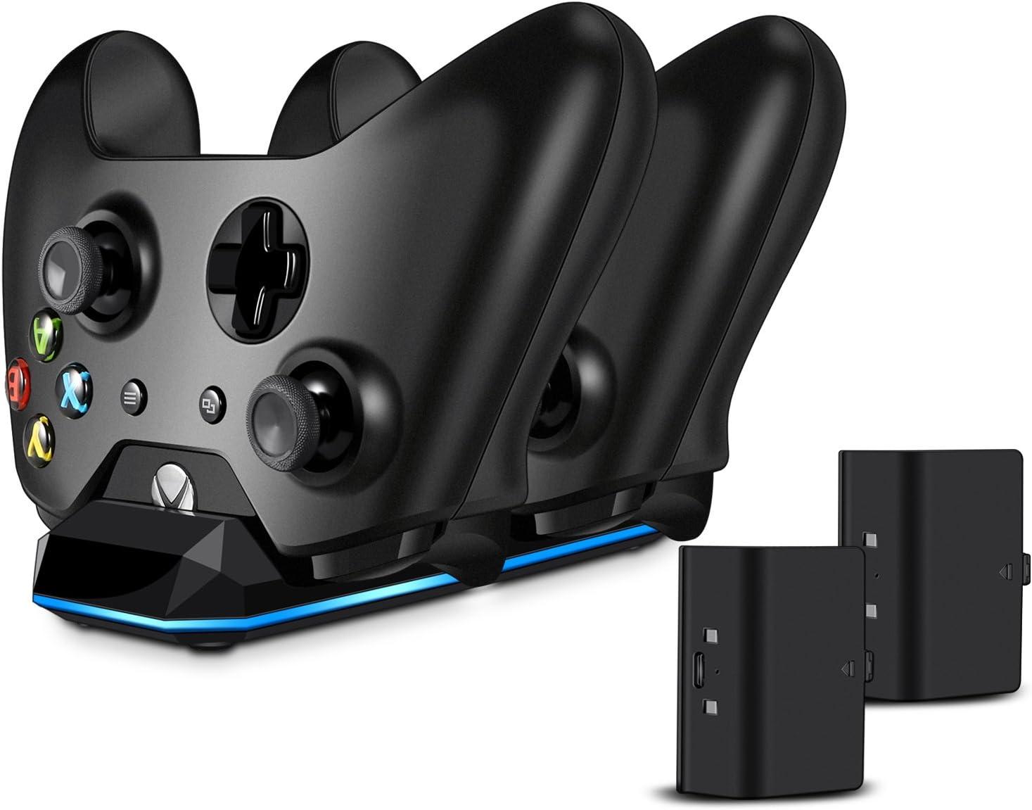 Xbox One batería (2 unidades) y controlador carga Set, Real Power ...