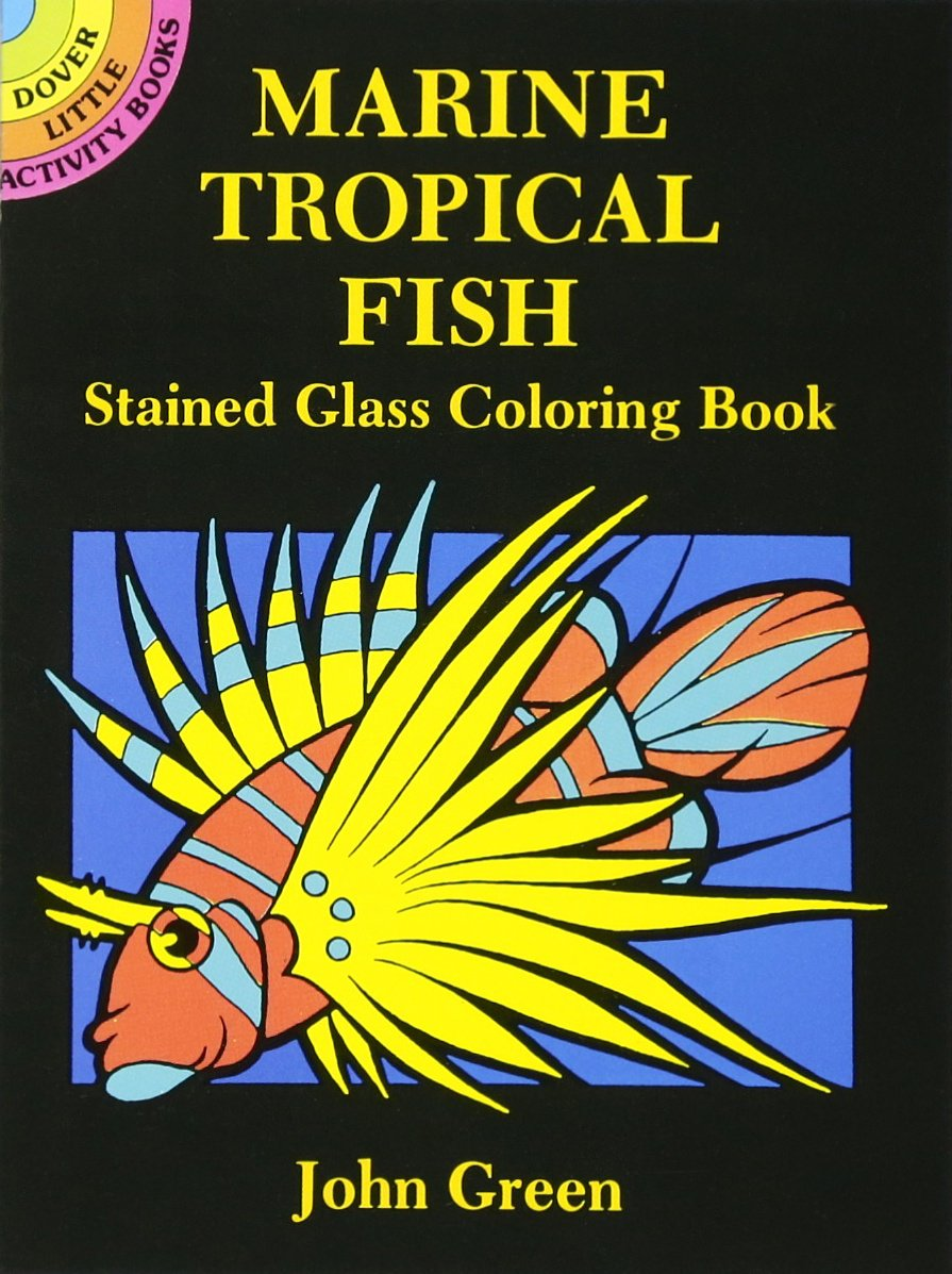 Marine Tropical Stained Glass Coloring