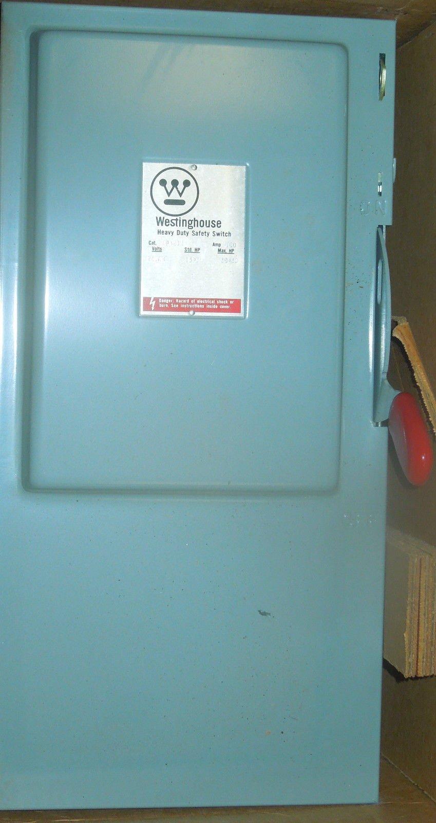 Westinghouse #HF423N, 100 amp, 240 Volts, 3 Pole, Fused, Nema:1