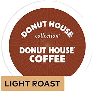 Donut House Coffee,K-Cup Portion Pack for Keurig K-Cup Brewers, Light Roast 12-Count (Pack of 3)