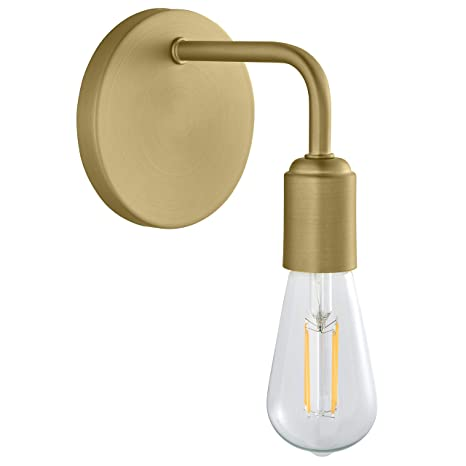 premium selection 87a8b 0ea91 Trasso Hallway Wall Sconce | Satin Brass Bathroom Vanity Light with LED  Bulb LL-WL110-3SB