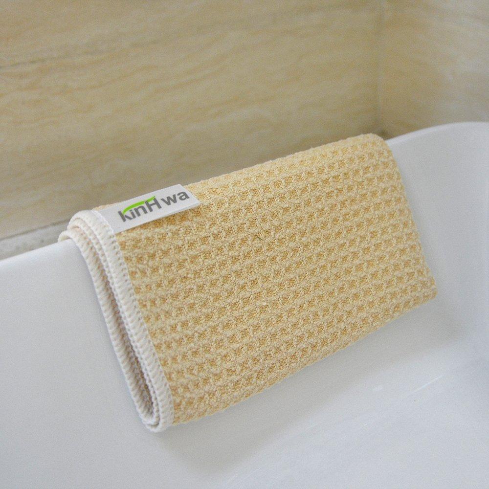 KinHwa paños de limpieza facial maquillaje Remover paños de secado rápido de microfibra Waffle Weave antibacterial Paños de cara 33 cm x 33cm 12 unidades ...