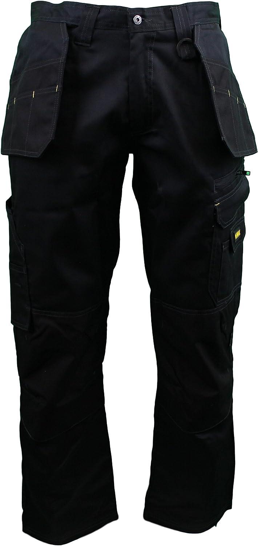 "DEWALT LOW RISE WORK TROUSERS BLACK DWC17-001 WAIST SIZE 32/""-42/""  LEG 29/""-33/"""
