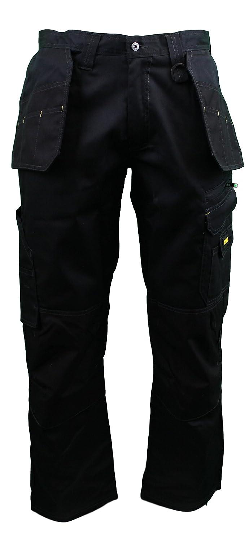 DeWalt Men's Low Rise Polycotton Holster Trouser - Grey/Black, 30W x 29L