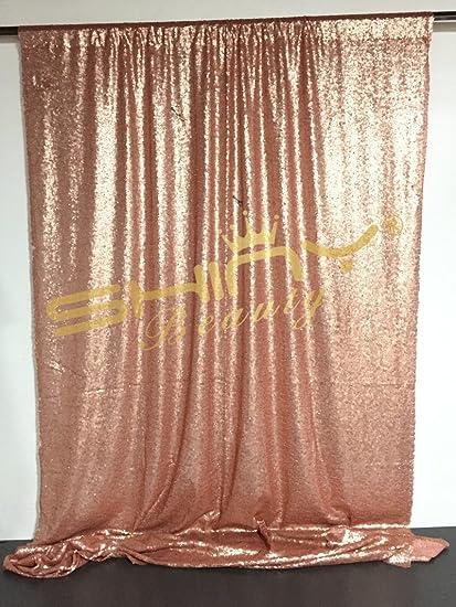 Shinybeauty Pailletten Hintergrund Vorhänge 6x7ft Blush Pink Pailletten Vorhänge
