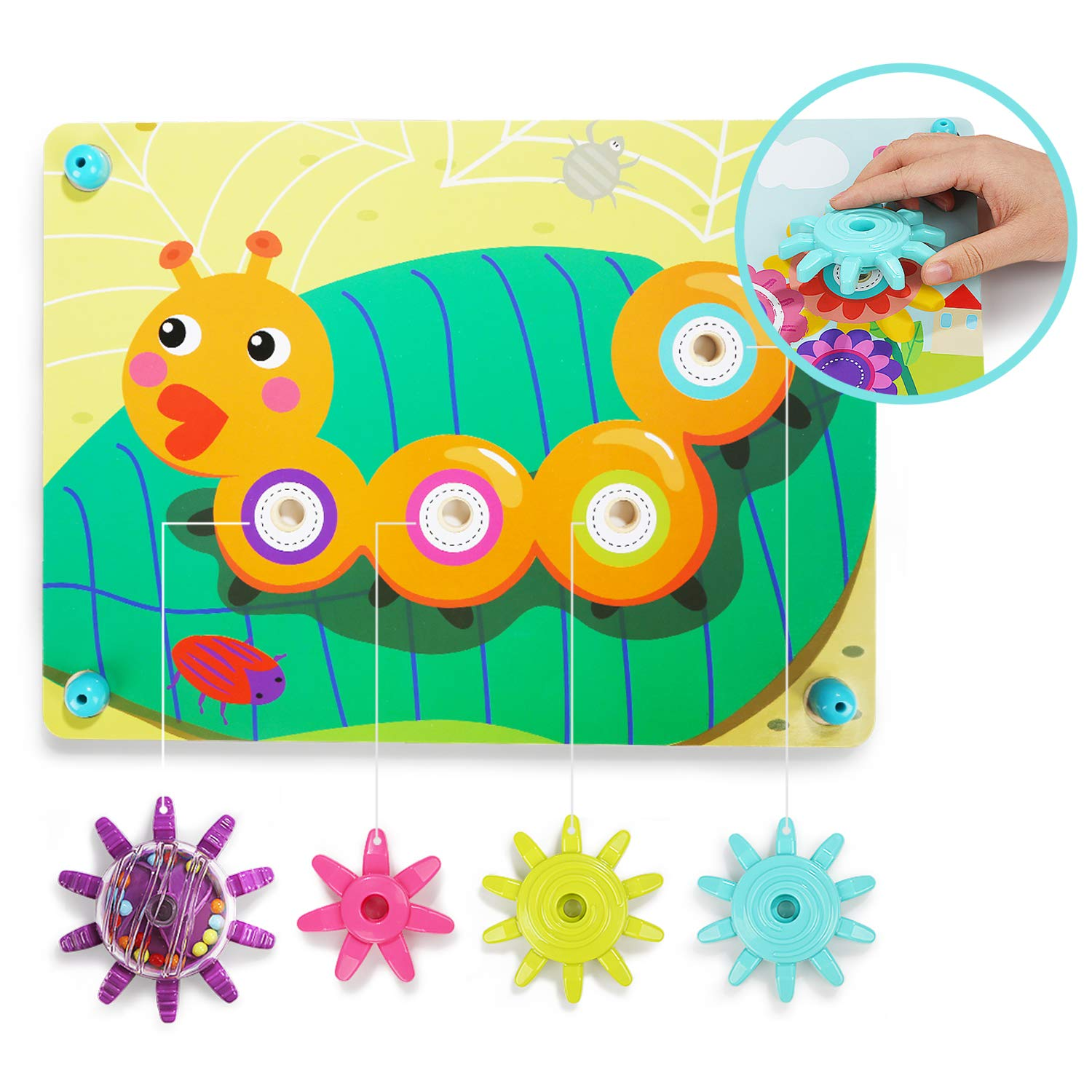 TOP BRIGHT Gear Toys for Toddlers - Stem Early Learning ...