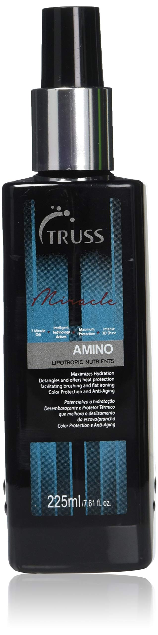 TRUSS Professional Amino Miracle - Heat Protectant Spray for Hair, Seals Cuticle, Repairs Dry Damaged Hair, Frizz Control, Detangles, Adds Shine, Color Protection, Anti-Aging by TRUSS