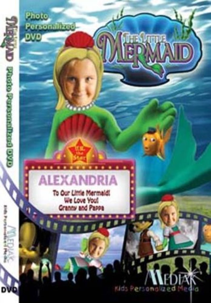 Children's Personalized Movie DVD – The Little Mermaid -- With Child's Photo In This UR The Star DVD By Mediak - ''CUSTOMIZE WHEN ORDERING''