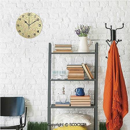 SCOCICI - Reloj de Pared con diseño de Zorro Joven de 10 Pulgadas ...