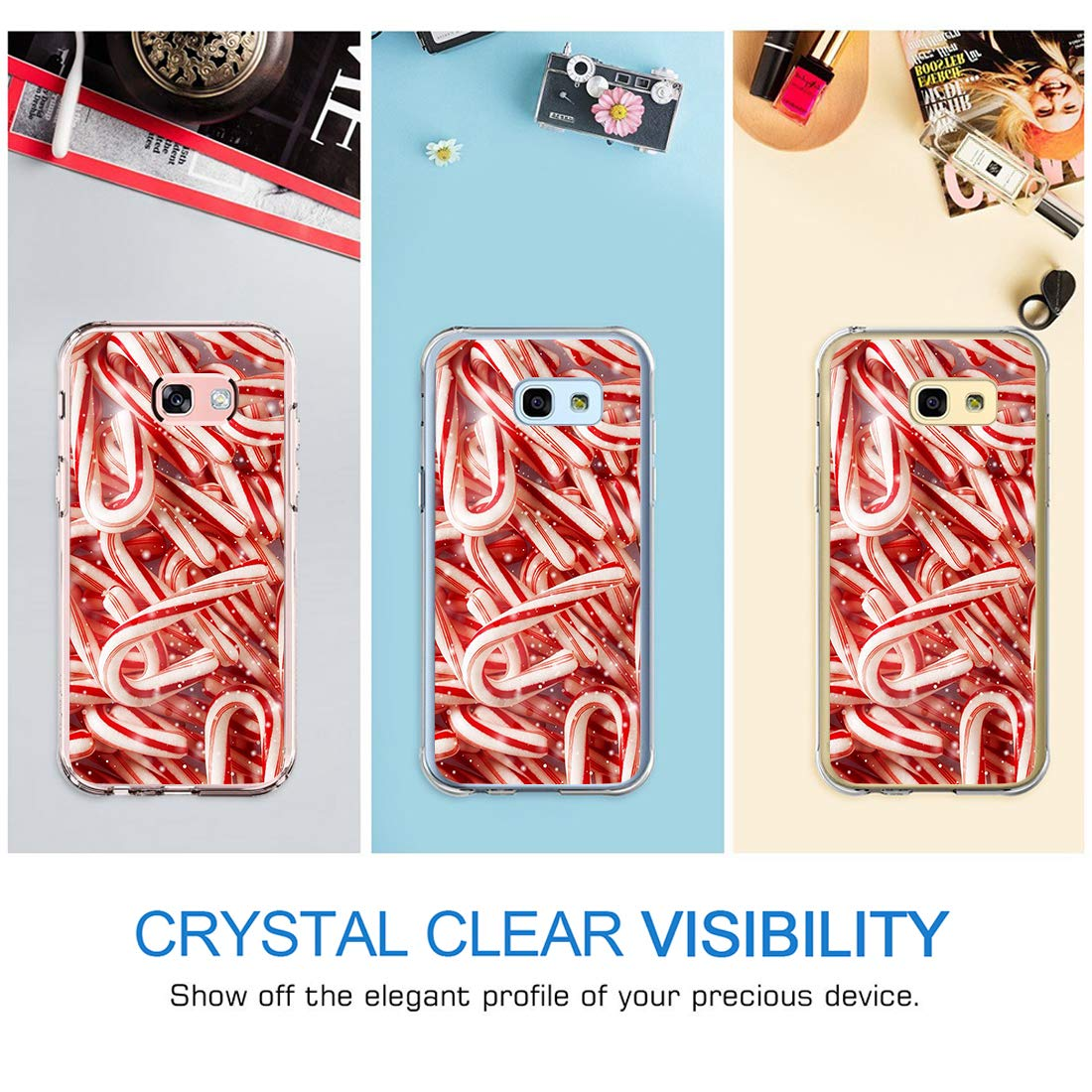 18eay Kompatibel mit Samsung Galaxy A5 2017 H/ülle Crystal Clear Cover Transparent Weiche Silikon Handyh/ülle Sto/ßfest Schutzh/ülle f/ür Samsung Galaxy A5 2017