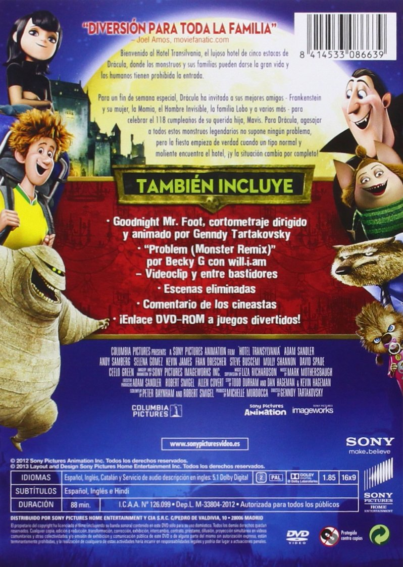 Hotel Transilvania [DVD]: Amazon.es: Personajes animados ...