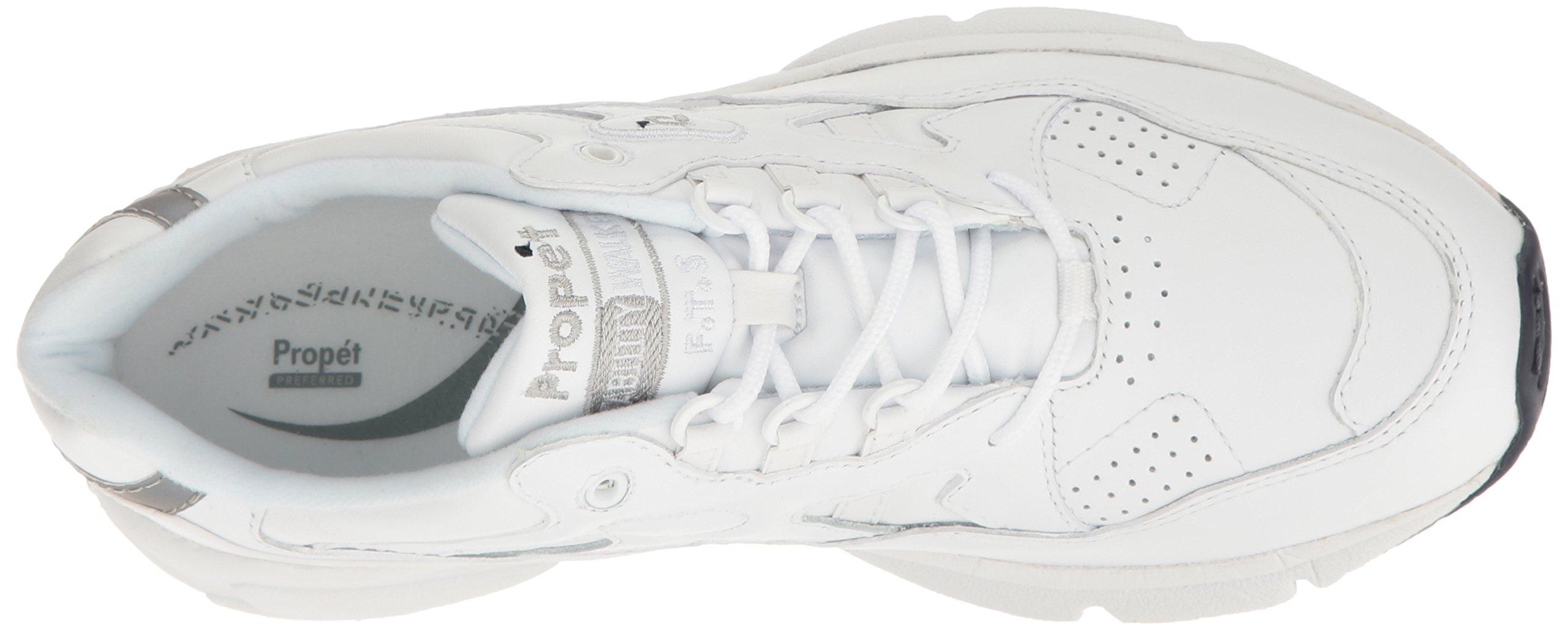Propet Men's Stability Walker Sneaker, White, 7 3E US