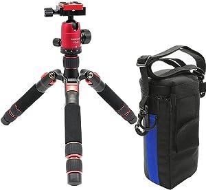 Koolehaoda Travel Portable Mini Tripod Compact Desktop Macro Mini Tripod with Ball Head for DSLR Camera Canon Nikon (H-55+KQ30)