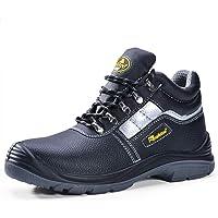 SAFEYEAR Zapatos de Seguridad para Hombres 8027 Site Botas de Seguridad para Trabajo Pesado con Punta de Acero, Zapatos…