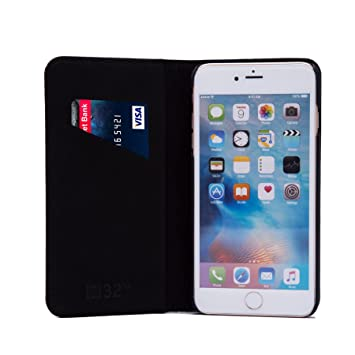 32nd Classic Series - Funda Tipo Libro de Piel Real para Apple iPhone 7 Plus & Apple iPhone 8 Plus, Carcasa de Cuero Premium diseñada con Cartera, ...