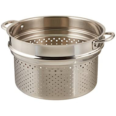 Le Creuset Tri-Ply Stainless Steel Deep Colander Insert, 10-Inch
