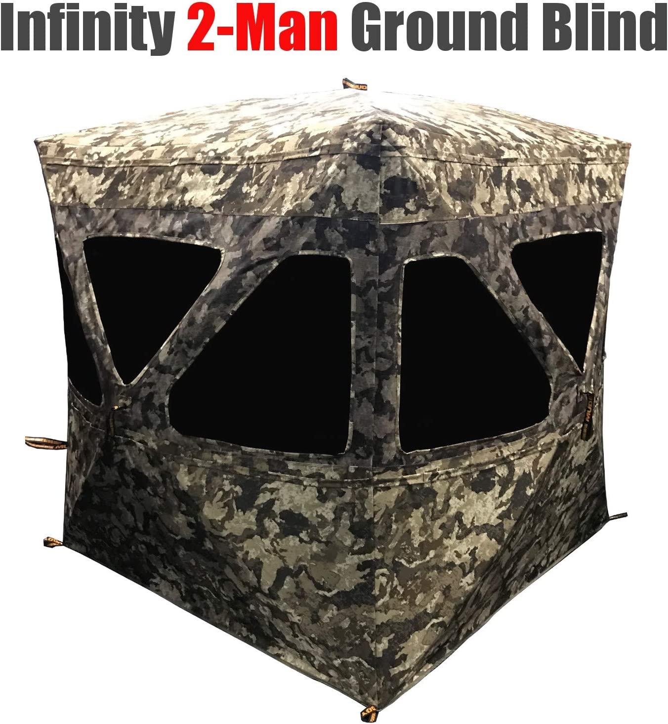 Amazon Com Muddy Infinity 2 Man Ground Blind With Surround