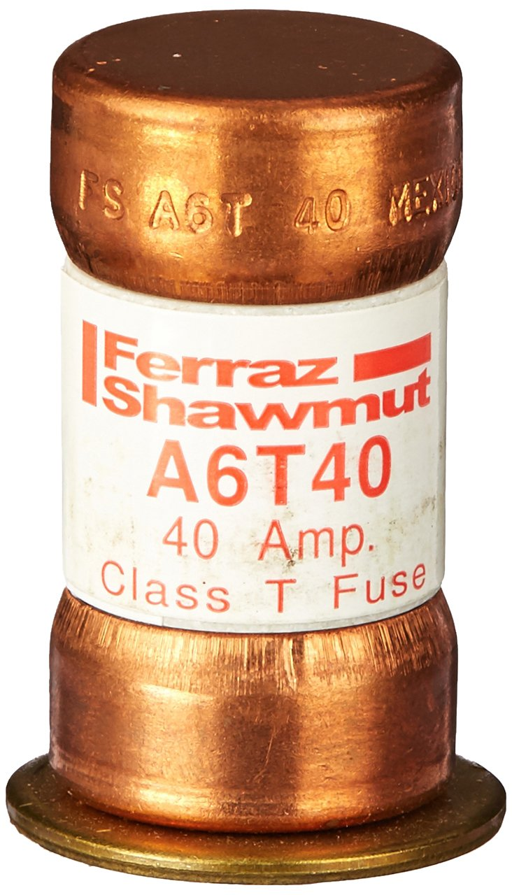 Mersen A6T40 600V 40A Class T Fuse, 10-Pack