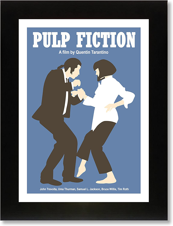 Pulp Fiction (A4 enmarcado) impresión de edición limitada