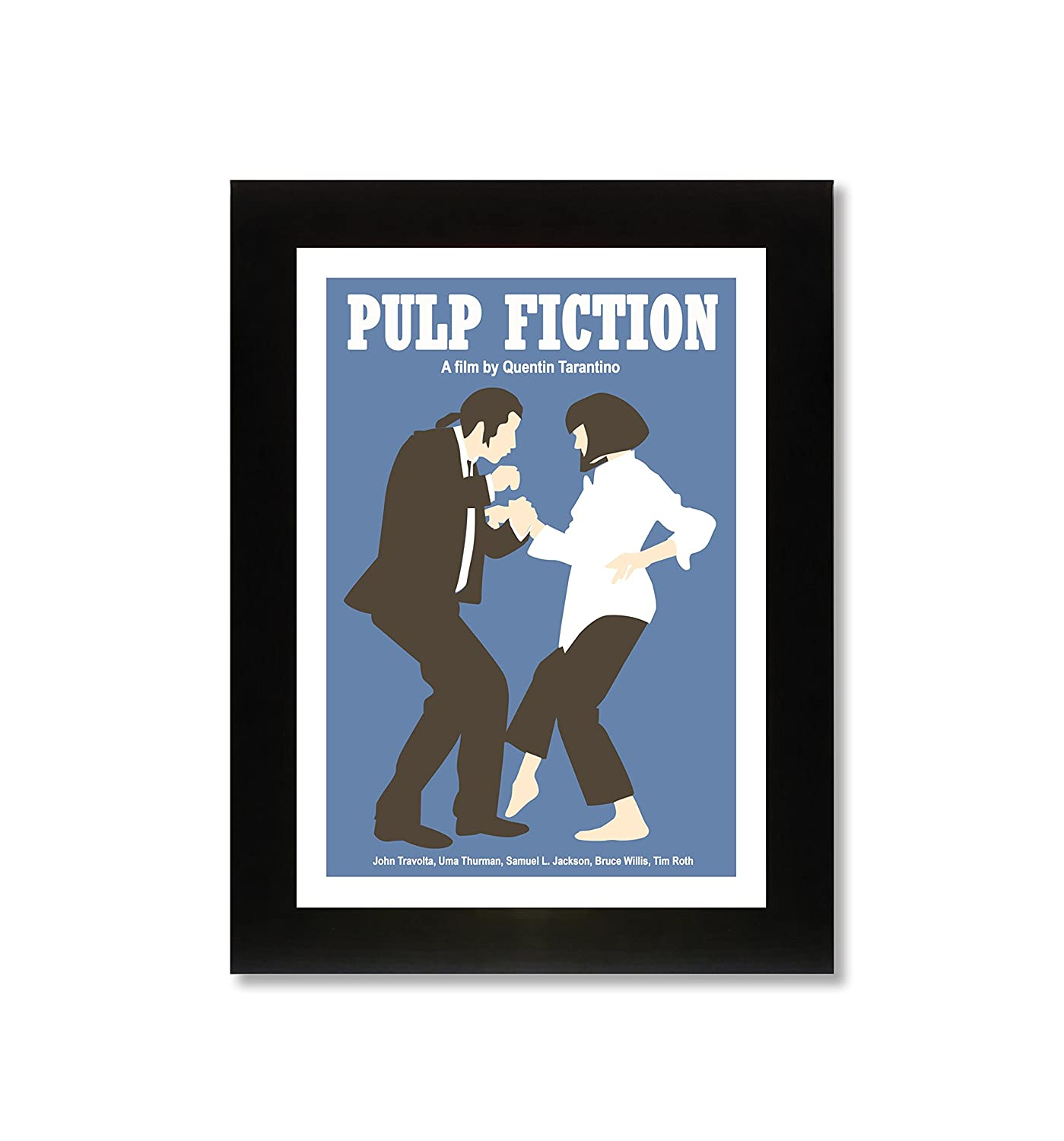 Stampa di Pulp Fiction in A4, incorniciata, edizione limitata richard thomas ltd