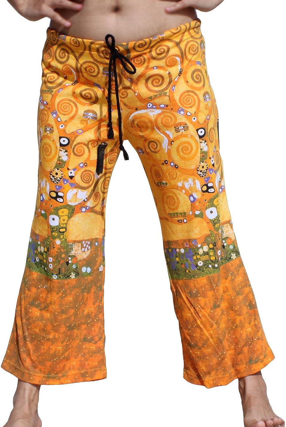 RaanPahMuang Brand Full Patch Billowy Pants Gustav Klimt The Kiss